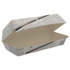cutii din carton model ziar pentru meniu