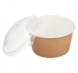 bol din carton natur pentru supa+capac