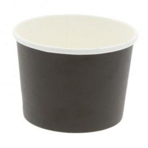 bol din carton negru pentru supa+capac