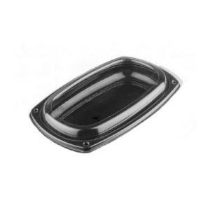 platou oval negru+capac