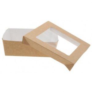 cutii prajituri din carton kraft natur