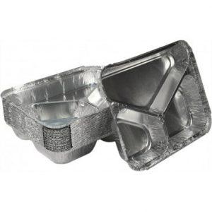 caserole aluminiu cu 3 compartimente