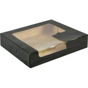 cutii carton negru cu fereastra pentru prajituri