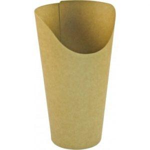 pahare din carton kraft natur pentru wrap si desert