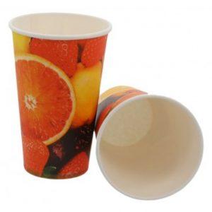 pahare carton imprimat fructe