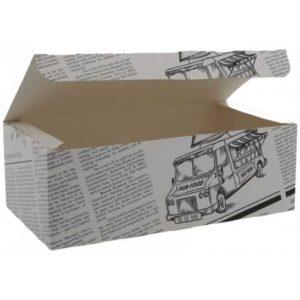 cutii meniu din carton model ziar