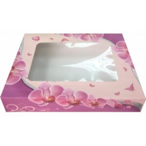 cutii cu fereastra pentru prajituri orhidee